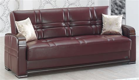 Burgundy Leather Sofa Manhattan Burgundy Leather Sofa Bed By Empire Furniture Usa