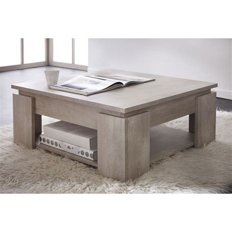 Table Basse Carrç E Bois Table Basse Carr 233 E En Bois L80 X H36 Cm Segur Port Offert