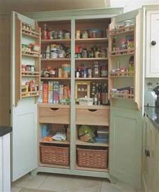 a freestanding pantry for small spaces