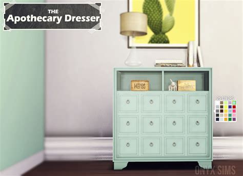 apothecary dresser my sims 4 the apothecary dresser by kiararawks