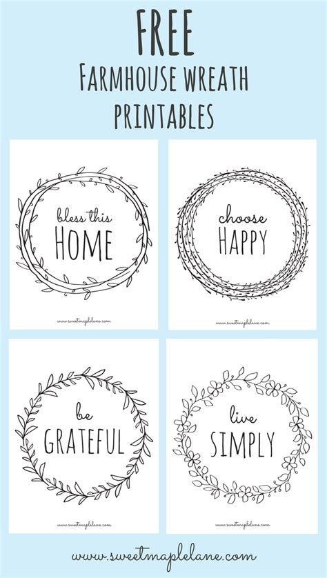 printable quotes for wooden signs farmhouse wreath printables wreaths cricut and craft