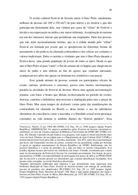 Dissertação de leon frederico kaminski na história da ufop