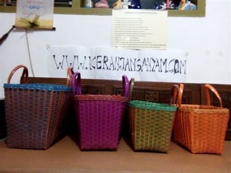 Tas Anyaman Kotak tas anyaman kotak kombinasi kaca untuk hantaran atau