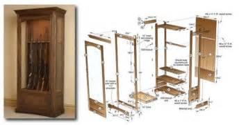 build your own gun cabinet gun cabinet plans home