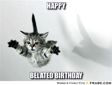 Happy Belated Birthday Meme - happy supercat meme generator captionator