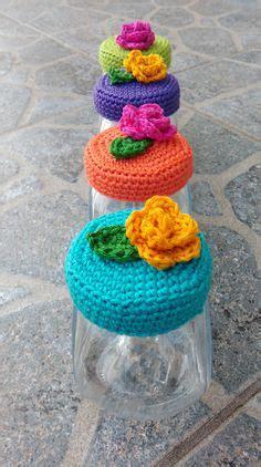 serial crocheteuse 122 confiture et natas nest jam pot covers free crochet pattern