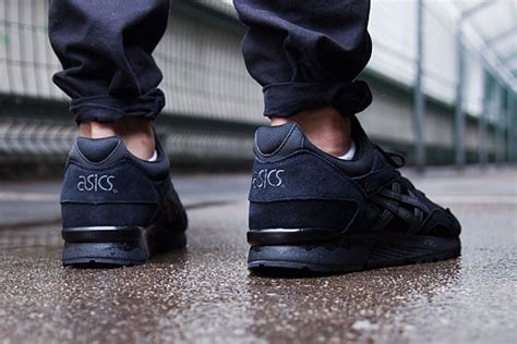 Asics Gel Lyte V Tex Concepts Black Heritageblue 5 the asics gel lyte v goes all black sneakernews