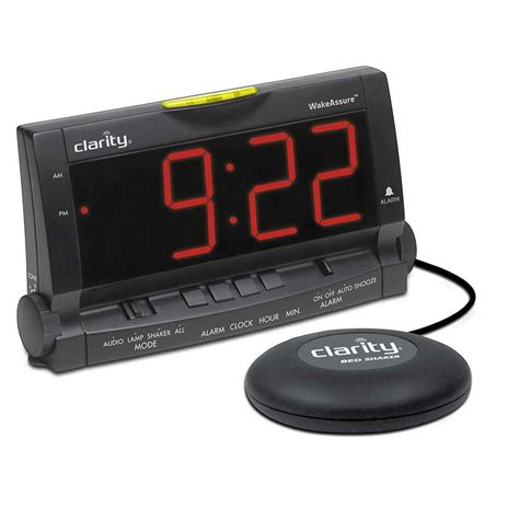 assure vibrating alarm clock with bed by clarity harris communications