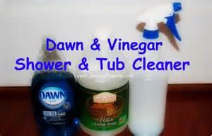 vinegar tub and shower cleaner