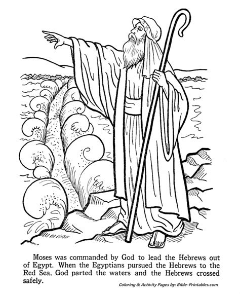 preschool bible coloring pages moses moses and the exodus coloring pages