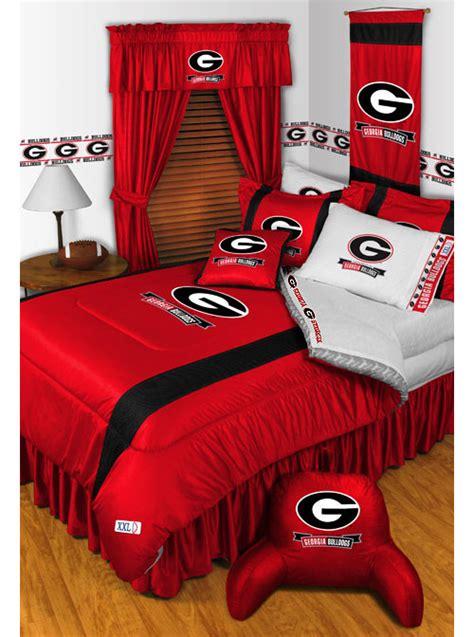 georgia bulldogs queen full comforter set 3pc college