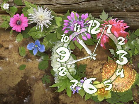flower clock themes software shareware4u kategorie desktop themes wallpaper