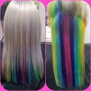 peek a boo hair color ideas platinum hair and peek a boo rainbow hair colors ideas