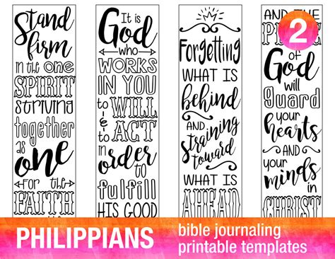 printable version of philippians 4 bible journaling digital download printable template bible