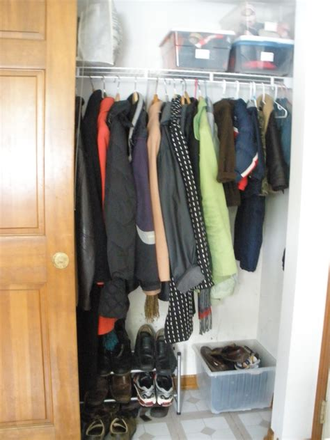 coat closet crafting my happy life coat closet organizing