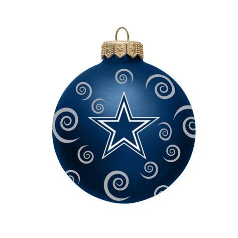 nfl dallas cowboys ball ornament  swirls