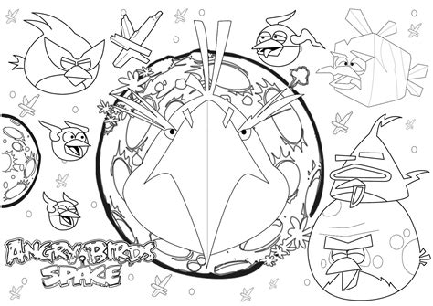 Free Coloring Pages Of Angry Birds Space Games Angry Birds Space Coloring Pages