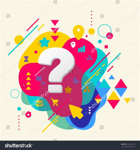 html design questions question mark on abstract colorful spotted background with