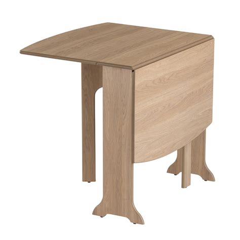 Wooden Drop Leaf Table Drop Leaf Table Heatproof Folding Dining Kitchen Gateleg Seats 6 D End Oak Ebay