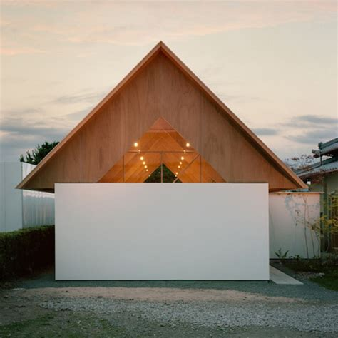 Triangle Roof Design Minimal Extension Adds Chic Usable Space To Japanese Home