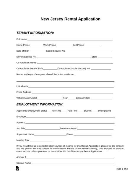 sample tenant application