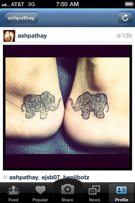 elephant tattoo on heel this is the perfect idea for combining ballet and fun