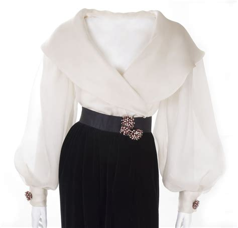 cocktail tops carolyne roehm evening skirt and blouse ensemble at 1stdibs