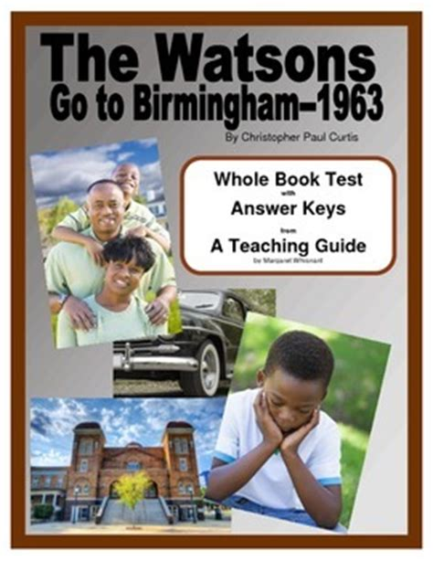 the watsons go to birmingham book report the watsons go to birmingham 1963 whole book test by
