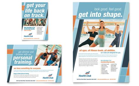 fitness brochure templates health fitness flyer ad template word publisher