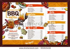Alex Rockheart S Portfolio On Shutterstock Bbq Menu Template