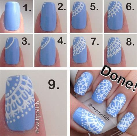 easy nail art step by step 20 easy and fun step by step nail art tutorials noted list