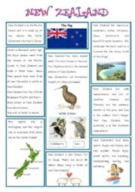 australia new zealand quiz worksheet free esl english worksheets the countries worksheets page 4