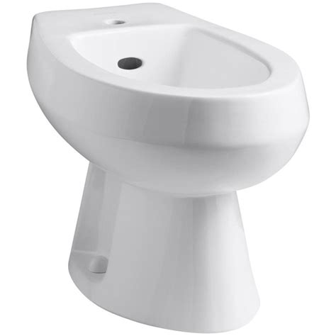 bidet lowes shop kohler amaretto 15 in h white elongated bidet at