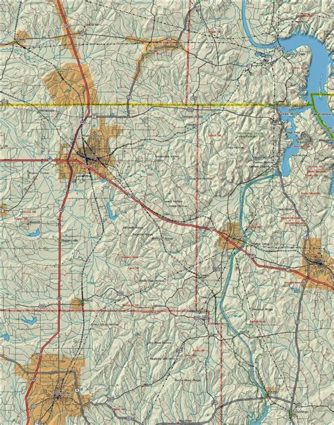 us map states tennessee 7 best images of topographic map eastern united states