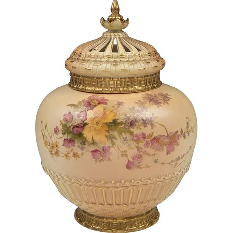 Potpourri Vase by Royal Worcester Potpourri Vase Liner And Cover 1909