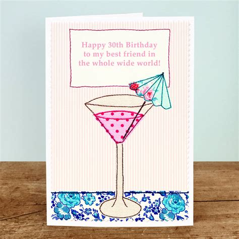 birthday cocktail cocktail personalised girls birthday card by jenny