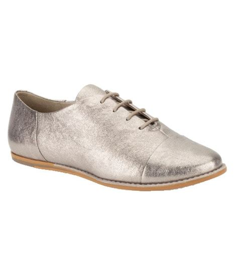 clarks fashionable silver casual shoes price in india buy