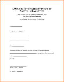 30 Day Notice To Landlord Sle Letter by 8 30 Day Notice Letter To Landlord Sle Notice Letter