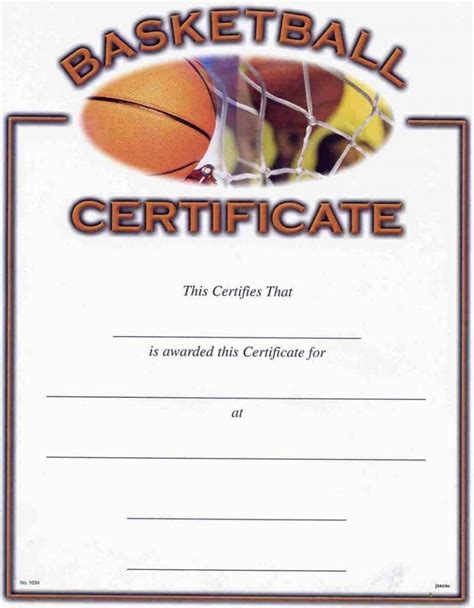 basketball certificates templates free free printable basketball certificates template