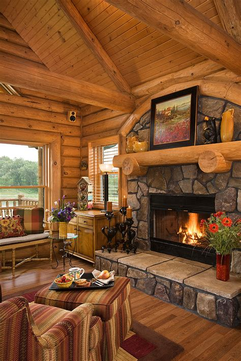 log home photos fireplaces special spaces expedition