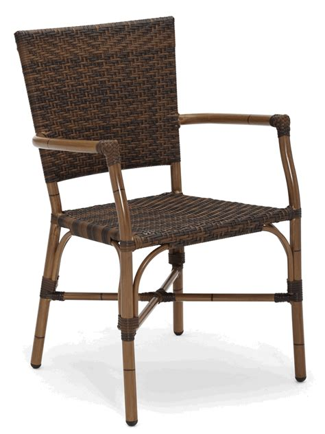 Bamboo Outdoor Chairs by Bamboo Weave Outdoor Restaurant Chair W Arms Bar