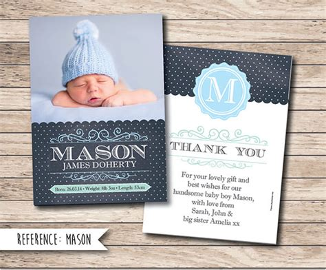 thank you templates for gift cards 19 baby thank you cards free printable psd eps