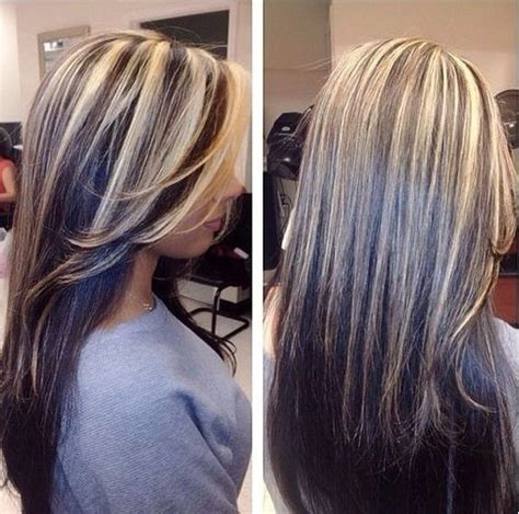 Dark Hair Underneath With Blonde Highlights On Top | short blonde hair with dark underneath google search