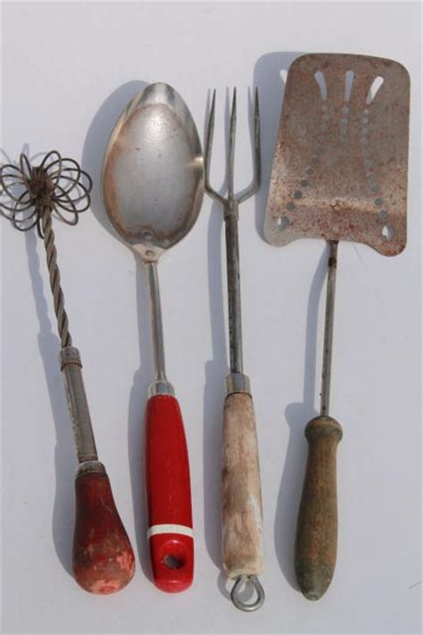 vintage farmhouse kitchenware lot old fashioned grandma s kitchen tools utensils