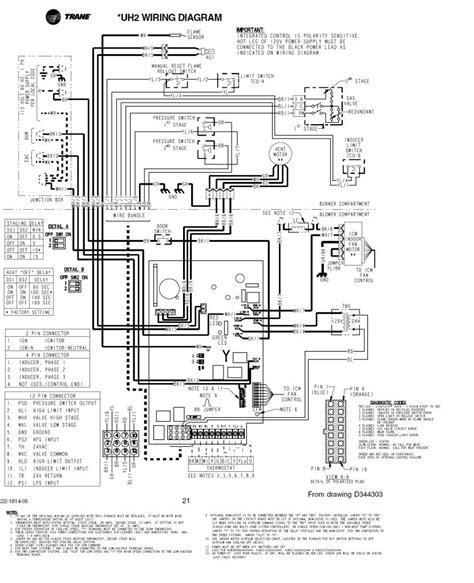 trane gas furnace wiring diagram wiring diagram with