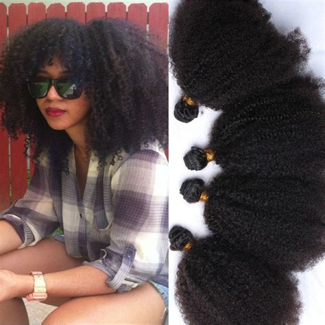 afro hairstyles extensions brazilian kinky curly virgin hair 8a grade 4 pcs afro