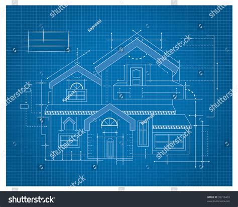 blue prints for houses modern house blueprint stock vector 99718403