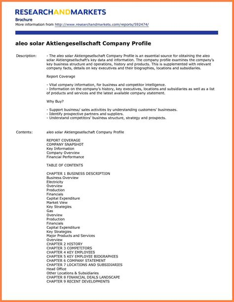 business profile templates 3 sle company profile format in word company letterhead