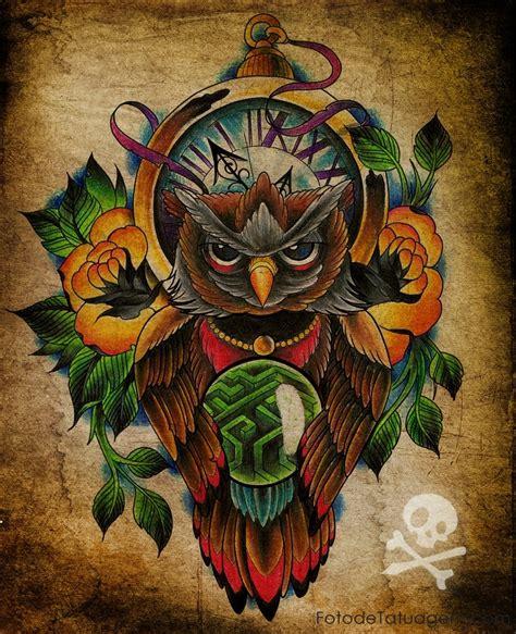 tatuagem de coruja foto de tatuagem