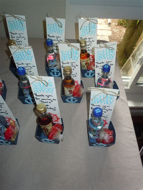Nautical 1st birthday; adult party favors!   Personal